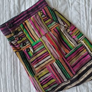Anthropologie Odille mini skirt size 2 multi color